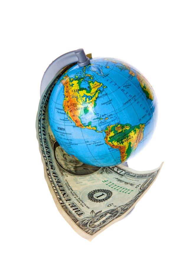 Globe et argent américain photos libres de droits