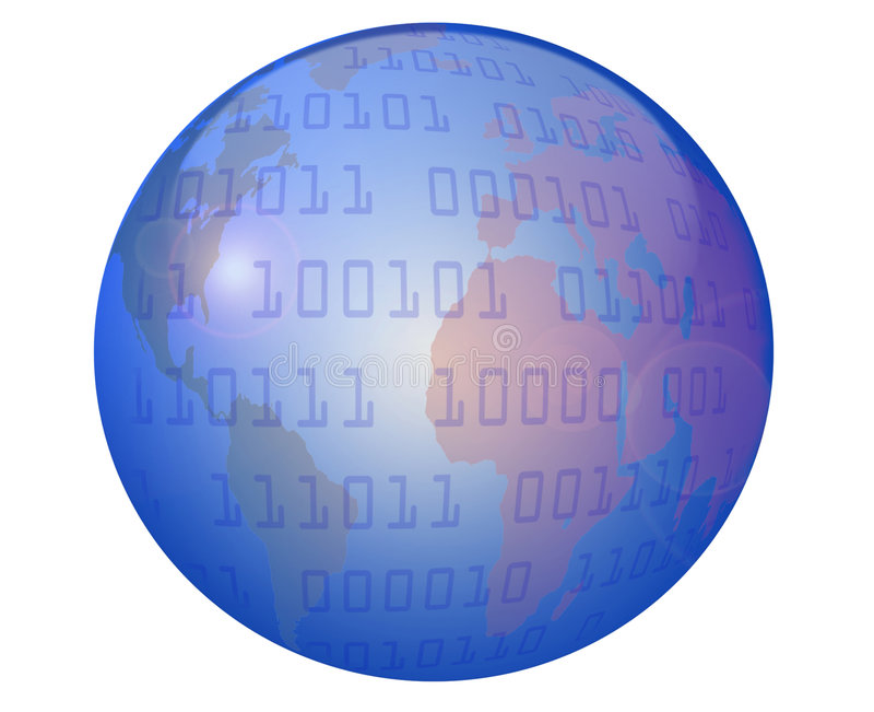 Globe et données illustration stock