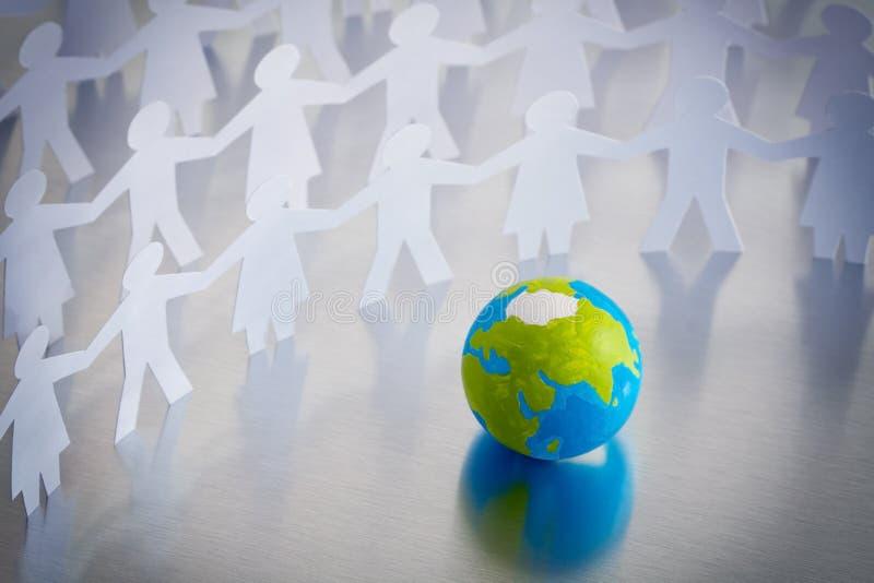 Globe et les gens illustration de vecteur