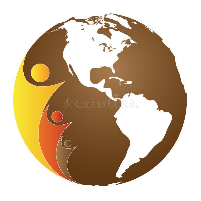 Globe et les gens illustration libre de droits