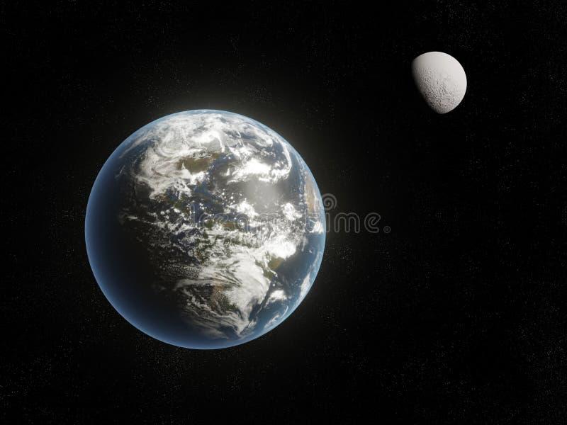 Globe et lune de la terre illustration de vecteur