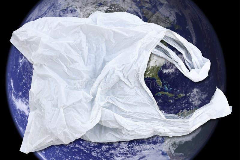 Globe et plastique photo stock