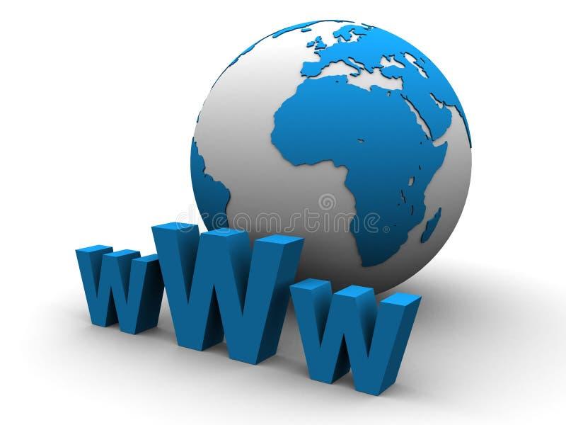 Globe et signe de WWW illustration libre de droits