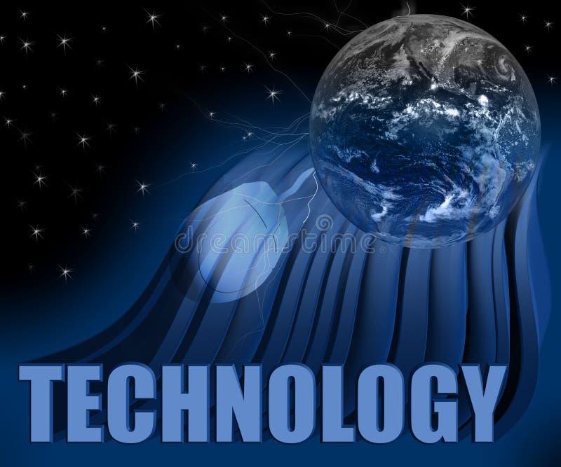 Globe et souris de la technologie 3D illustration libre de droits