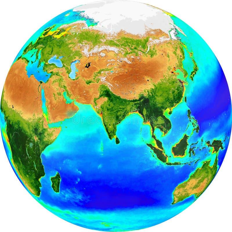 Globe eurasia images stock