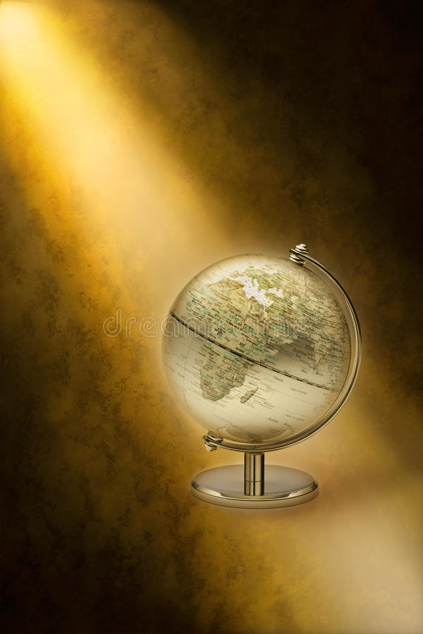 Globe Europe Africa stock illustration