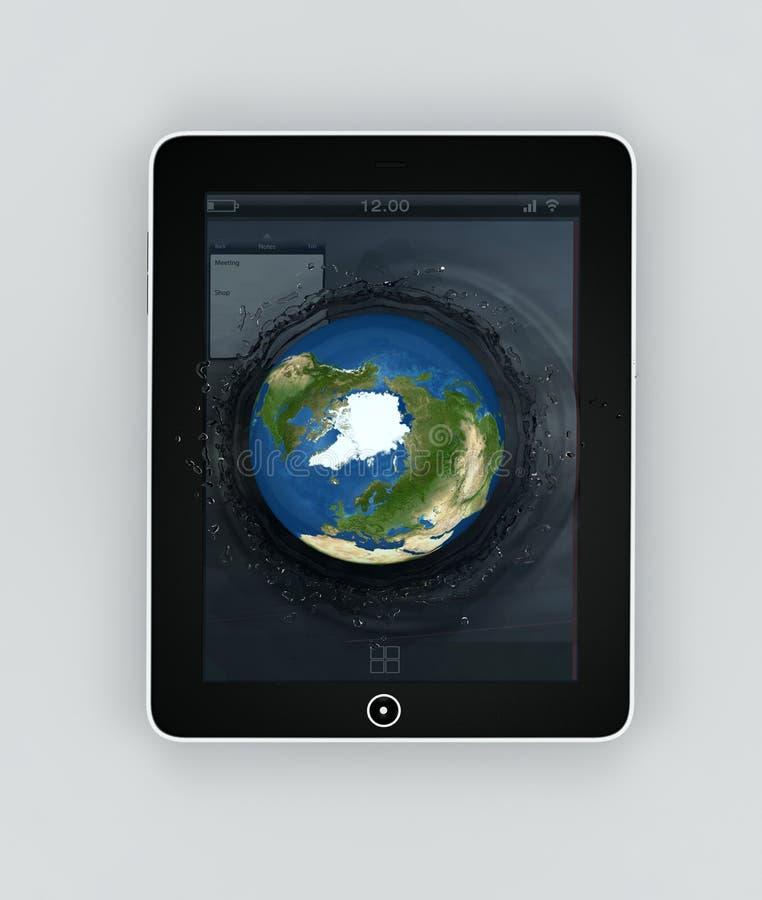 Globe falling into the device s screen