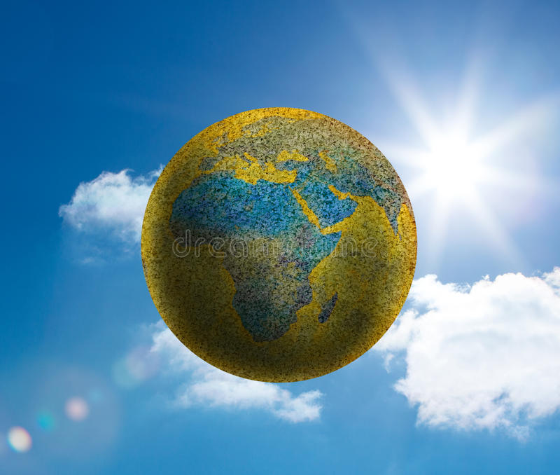 Globe Floating In The Sky Stock Images