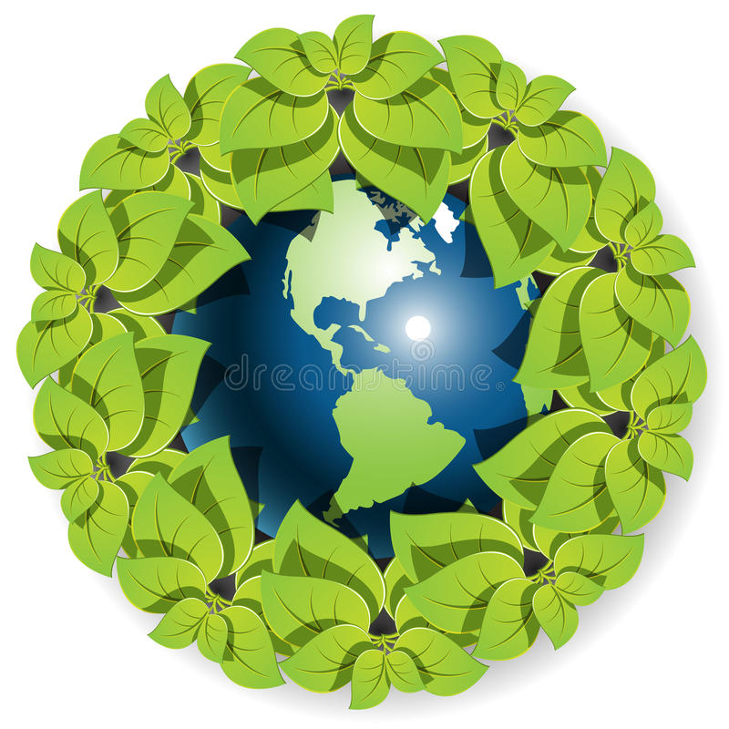 Download Globe with flower stock vector. Image of nature, board - 15839009