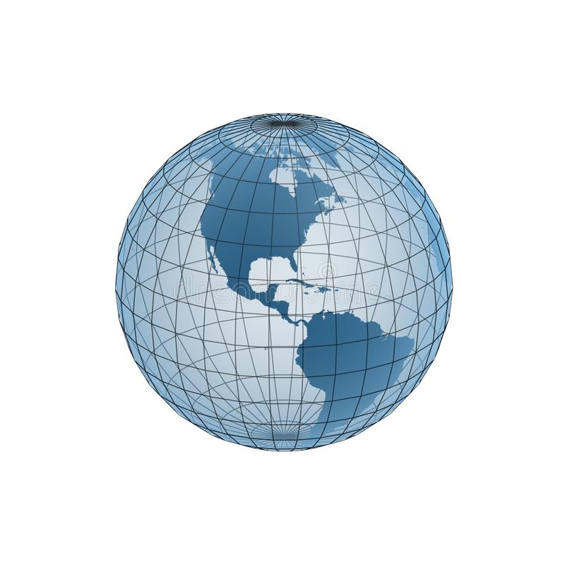 Download Globe frame stock illustration. Image of continent, world - 12410545
