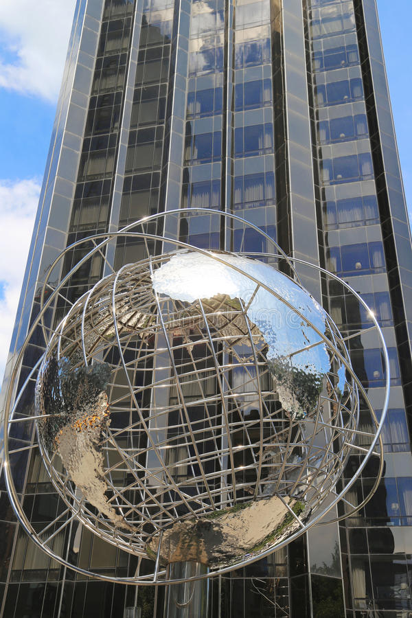 Download Globe In The Front Of Trump International Hotel And Tower At Columbus Circle In Manhattan Editorial Stock Photo - Image: 33001203