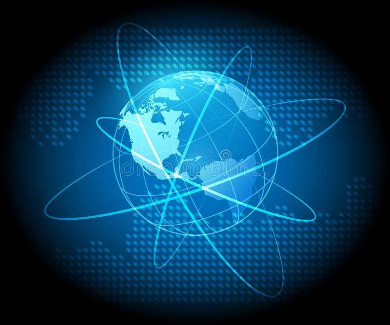 Globe Futuristic Concept Background stock photos
