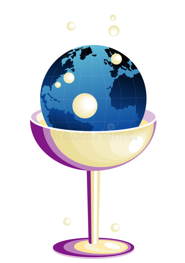 Earth in glass stock illustration