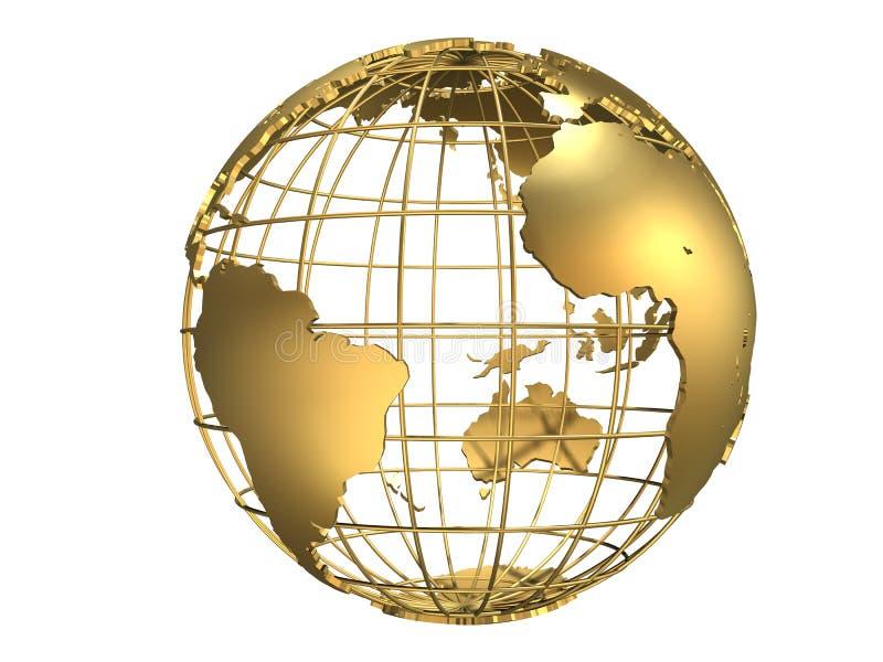 globe golden απεικόνιση αποθεμάτων