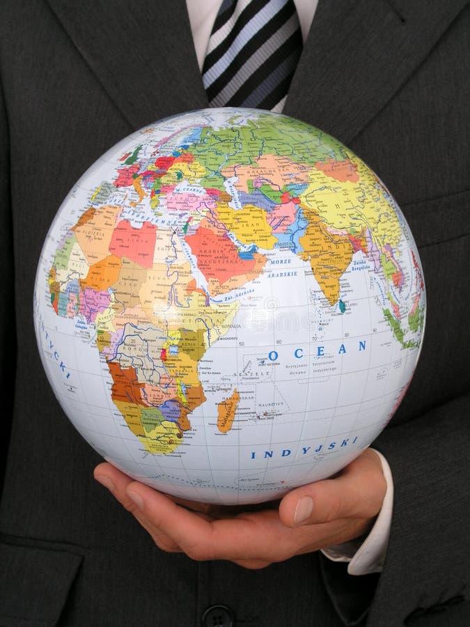 globe gospodarstwa zdjęcia royalty free