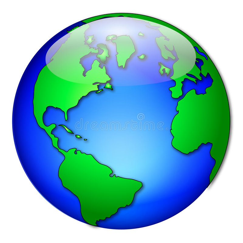 Globe gras 2 illustration stock