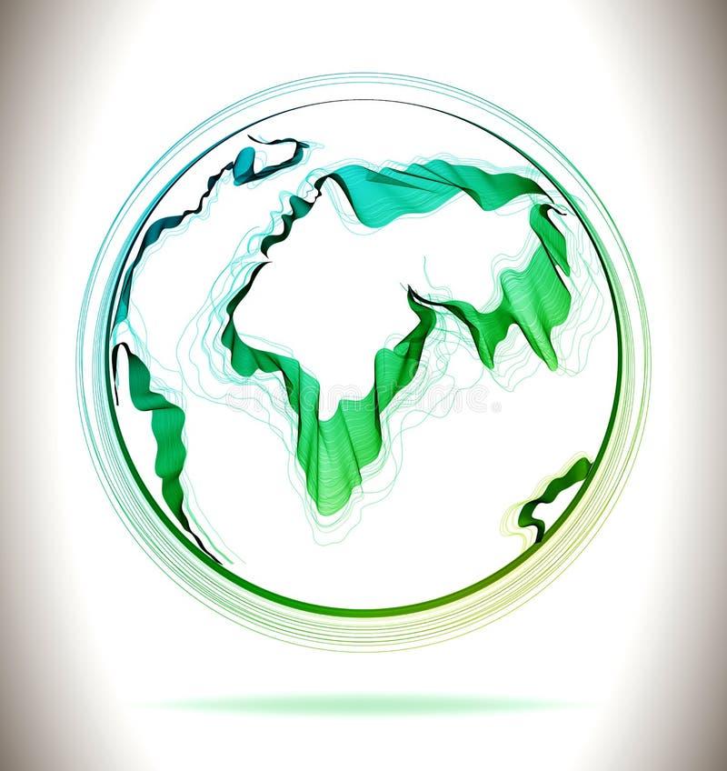 Globe Green Abstract Icon Stock Vector