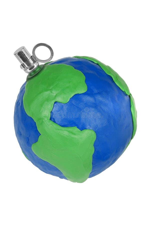 Globe-grenade stock photo