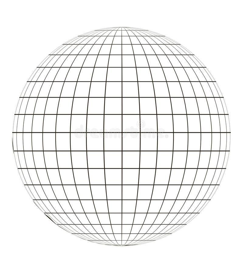 Globe with grid vector illustration