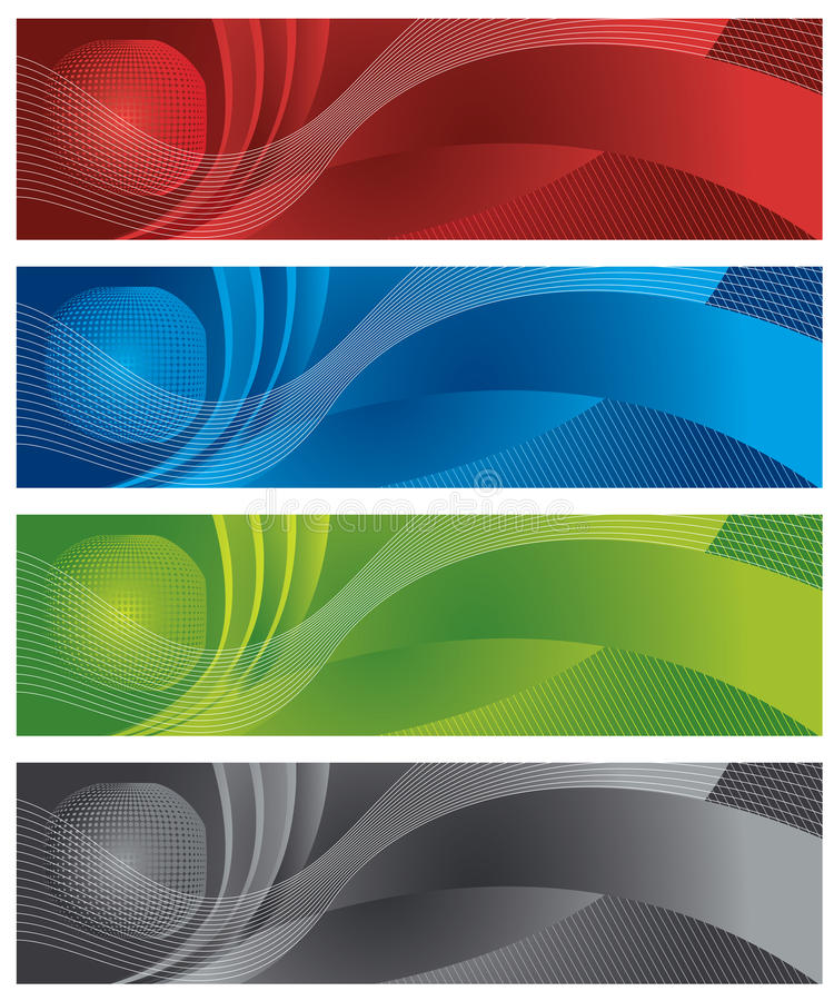 Download Globe And Halftone Digital Banners Stock Vector - Illustration: 21455943