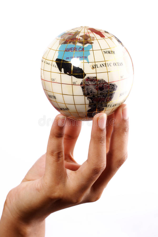 Download Globe in the hand stock photo. Image of protect, environment - 21883764