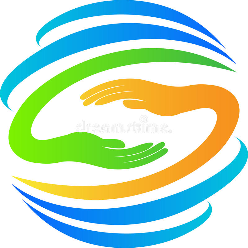 Globe With Hands Logo Royalty Free Stock Photos