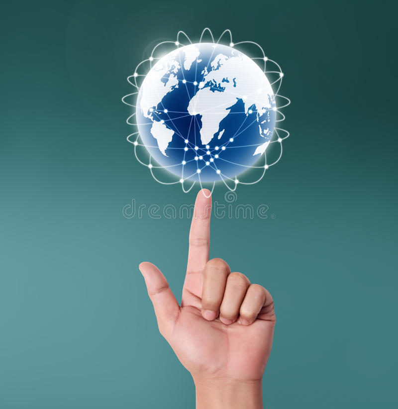 Download Globe In Human Hand Royalty Free Stock Photos - Image: 33493728