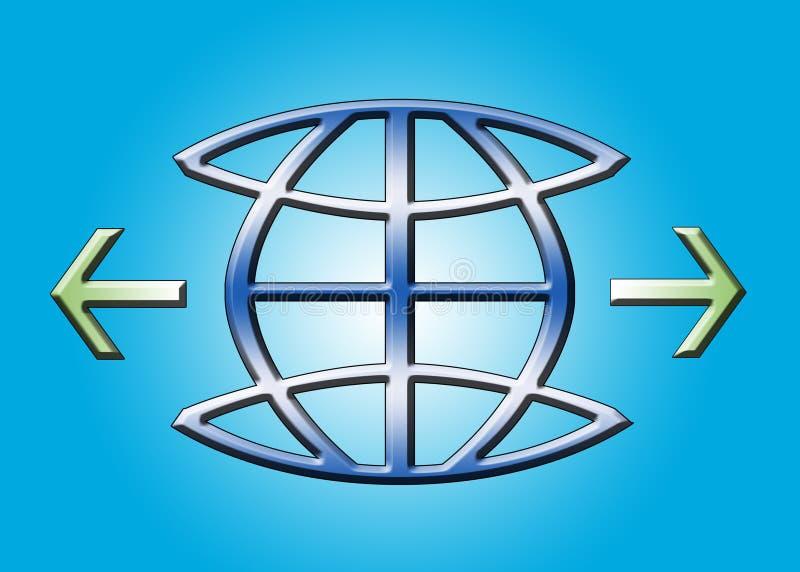 Globe icon royalty free illustration