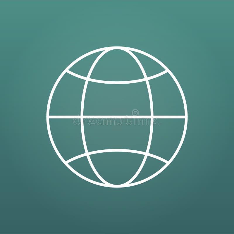 The globe icon with Editable stroke. Globe symbol. Flat Vector illustration isolated on modern background. The globe icon with Editable stroke. Globe symbol stock illustration