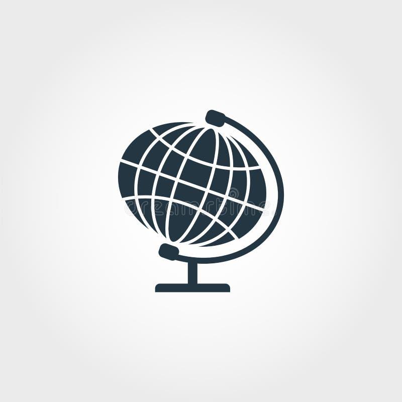 Globe icon. Premium monochrome design from education icon collection. Creative globe icon for web design and printing usage. Globe icon. Premium monochrome vector illustration