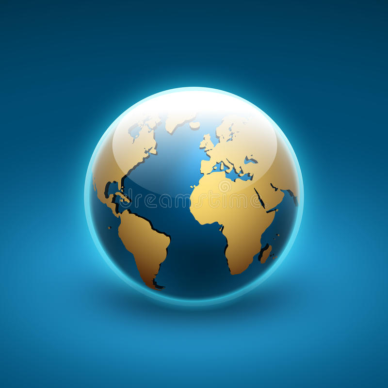 Globe icon of the world royalty free illustration