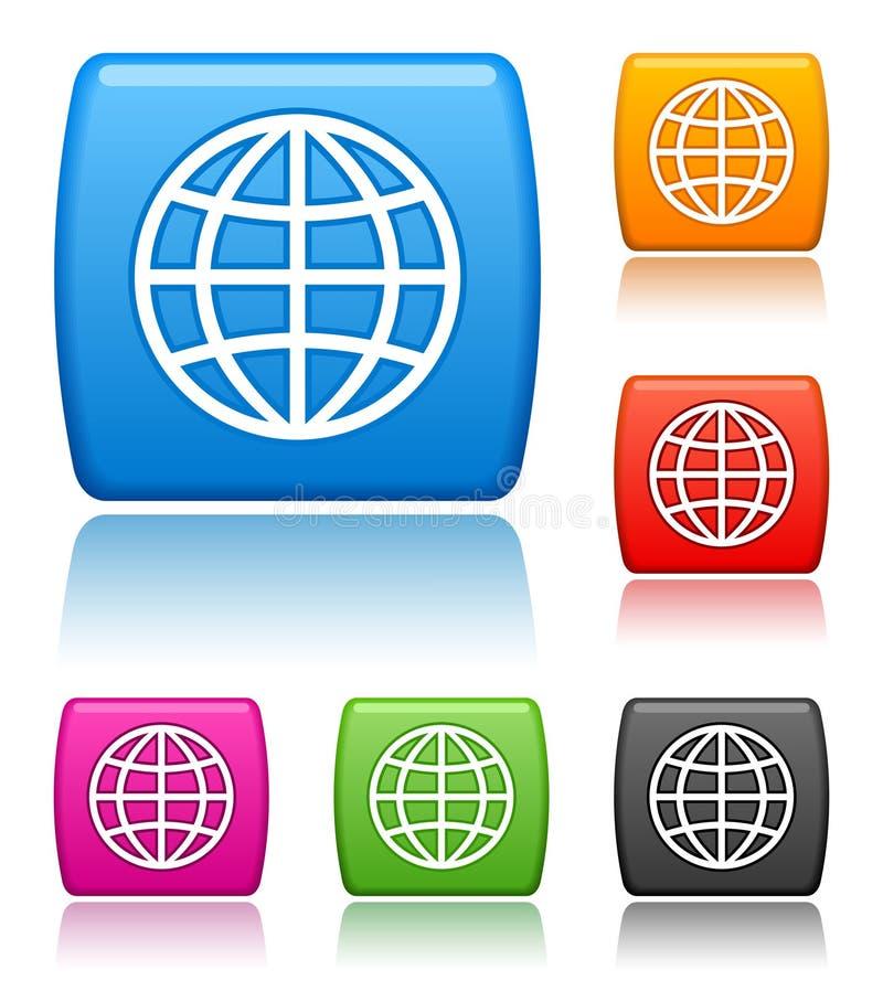Globe Icons Royalty Free Stock Photo