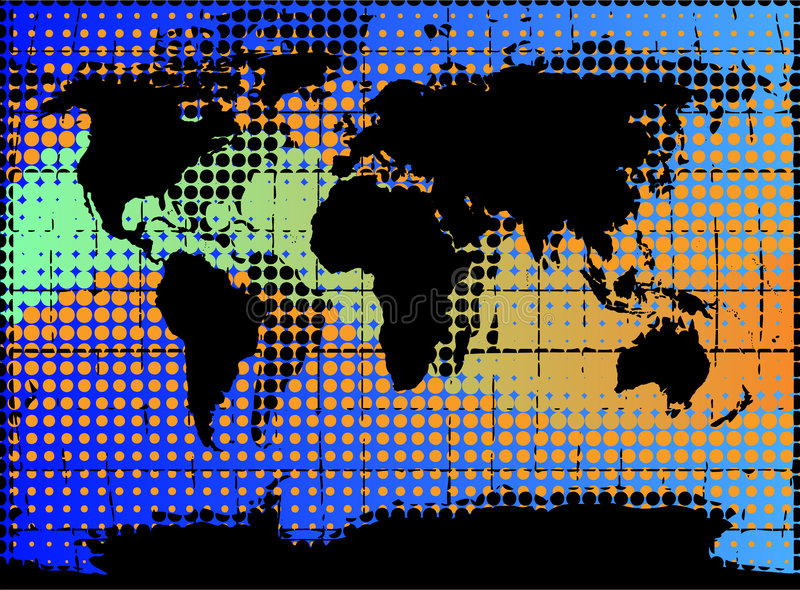 Globe illustration. Stylized illustration of the earth-globe stock illustration