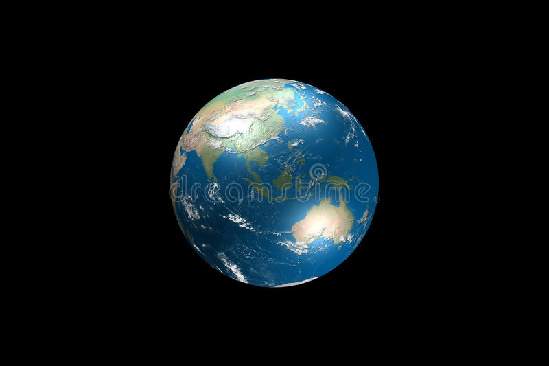 Download Globe Illustration With Real Geographical Data Stock Illustration - Image: 12056793