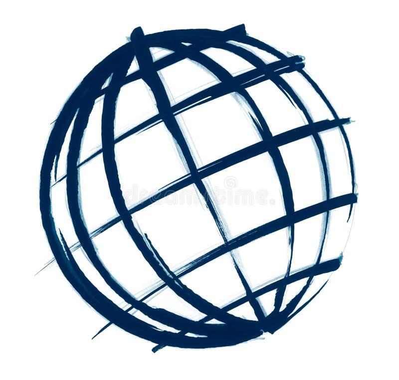 Globe illustration sketch royalty free stock photography