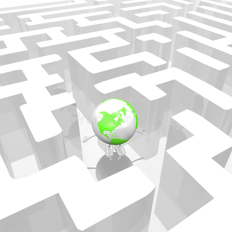 Free Globe In A Labyrinth Stock Images - 15243804