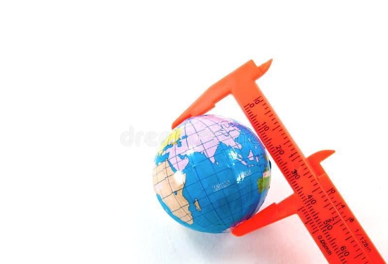 Download Globe Inside Vernier Calipers Stock Image - Image: 22675159