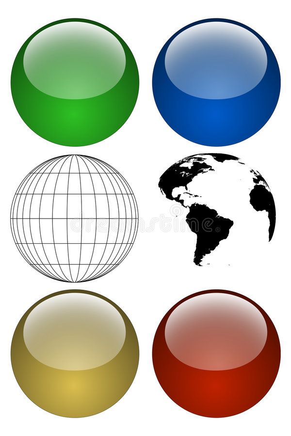 Globe Kit vector illustration
