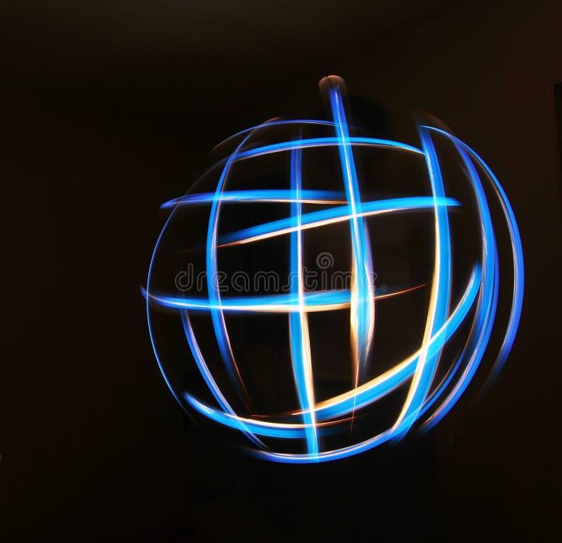 Globe léger illustration stock