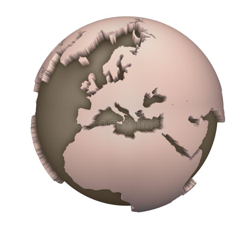 Globe l'Europe illustration de vecteur