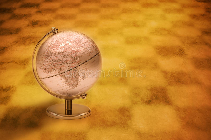 Globe l'Europe Afrique du monde illustration de vecteur