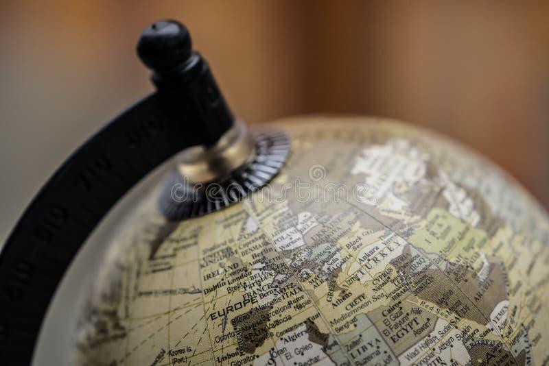 Globe l'Europe du monde de la terre de vintage photos stock