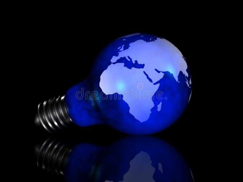 Globe Light Bulb royalty free illustration