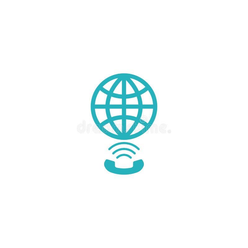 Globe link logo, concept app social global network technology element vector illustration