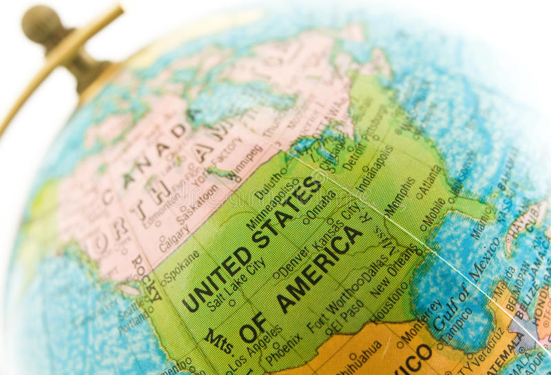 Download Globe On Location (USA) Royalty Free Stock Photos - Image: 9998398