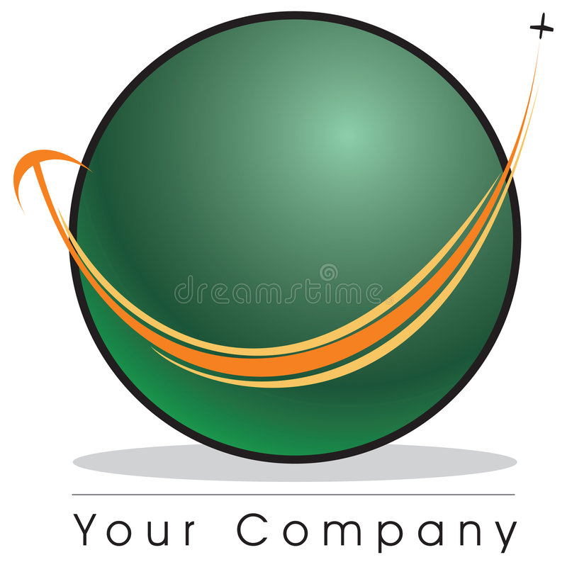 Globe logo royalty free illustration