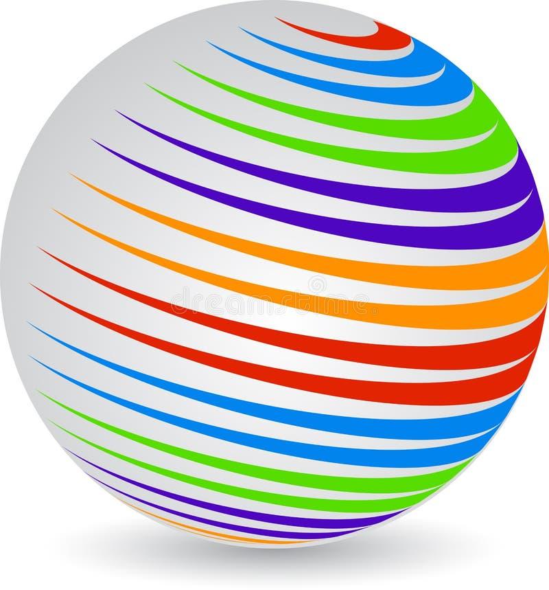 Globe logo vector illustration