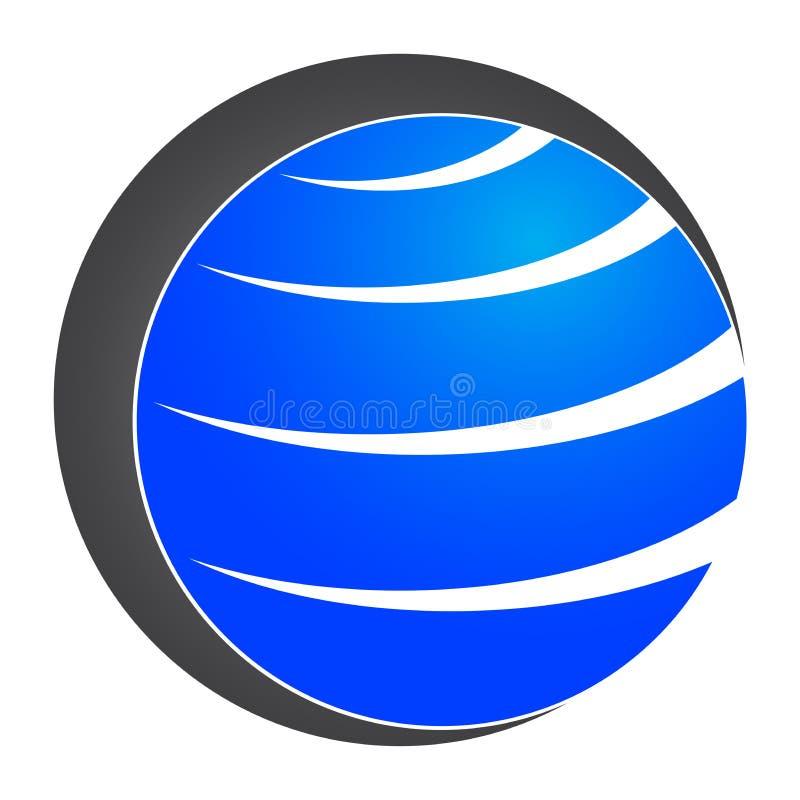 Globe logo. Illustration of globe logo design isolated on white background vector illustration