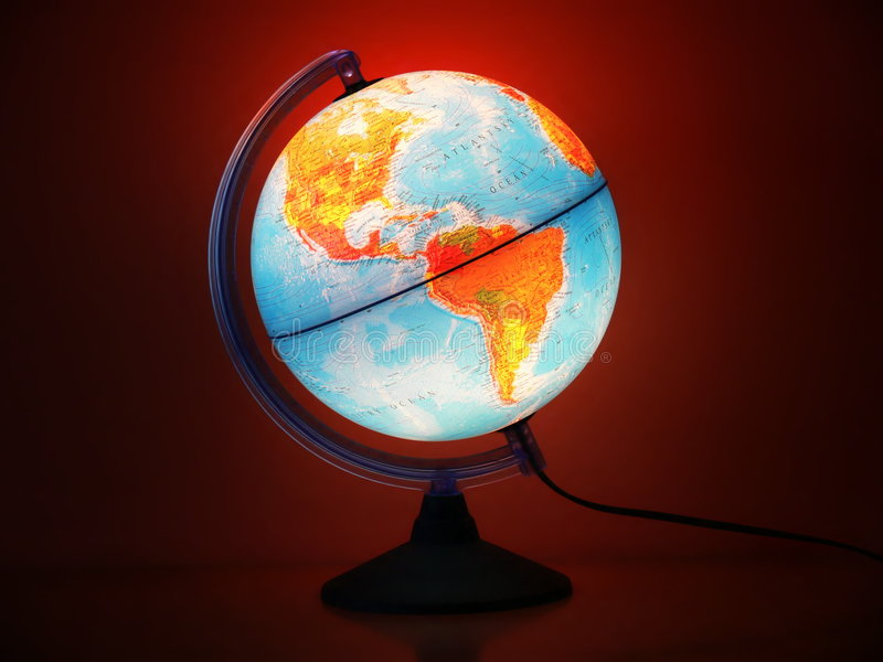 globe lumineux de couleur photo libre de droits