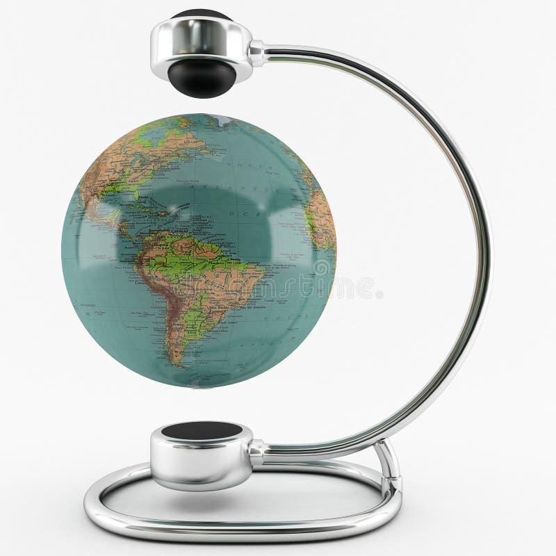 Globe magnétique illustration de vecteur